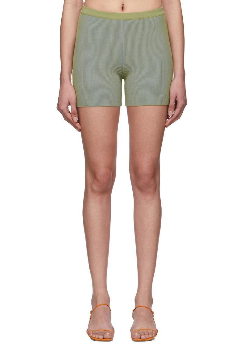 Jacquemus Green 'Le Short Arancia' Shorts