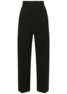 Jacquemus High Waist Cropped Wool Blend Pants