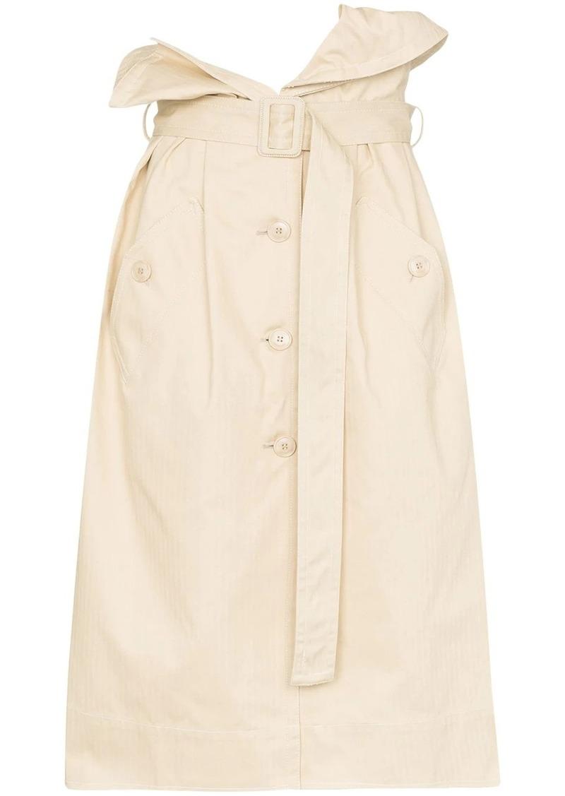 Jacquemus high waist denim midi skirt