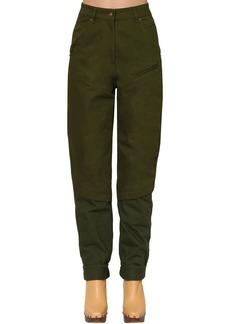 Jacquemus High Waist Straight Cotton Denim Pants