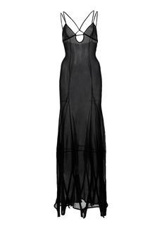 Jacquemus - Women's Basgia Organic Cotton-Blend Maxi Slip Dress - Black - Moda Operandi