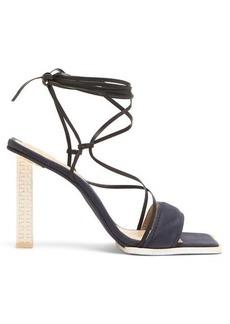 Jacquemus Adour wraparound leather sandals