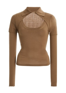 Jacquemus Albi Cutout Wool-Blend Top