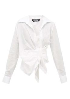 Jacquemus Bahia gathered cotton-poplin shirt