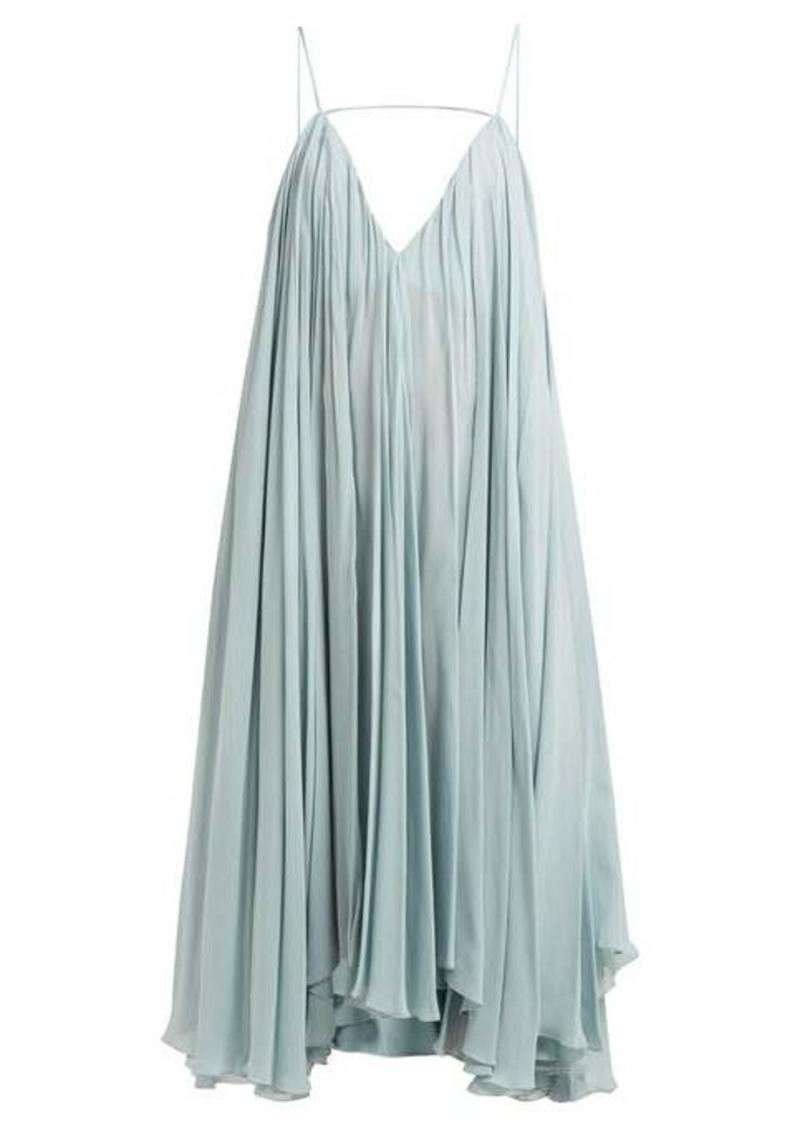 Jacquemus Bellezza low-back chiffon midi dress