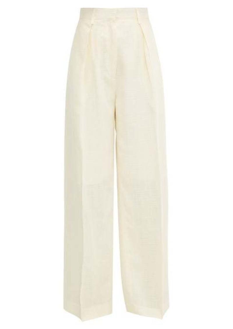 Jacquemus Carini canvas wide-leg trousers