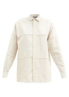 Jacquemus Carro panelled cotton-blend shirt