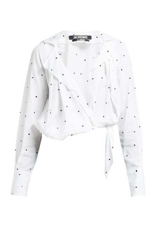 Jacquemus Figari embroidered cropped shirt