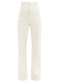 Jacquemus High-rise linen-blend trousers