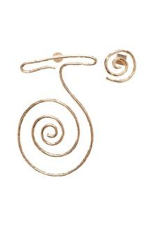 Jacquemus La Spirale Brass Statement Earrings