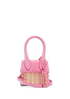 Jacquemus Le Chiquito leather and wicker cross-body bag