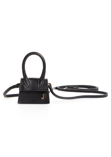 Jacquemus Le Petit Chiquito Leather Mini Top Handle Bag - Black