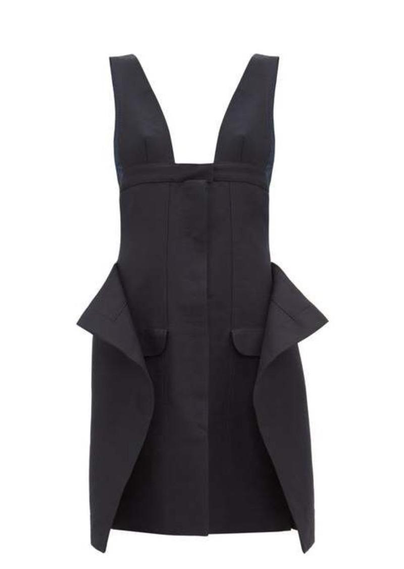 Jacquemus Lecci panelled cotton-blend canvas mini dress