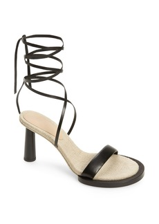 Jacquemus Les Carre Rond Asymmetrical Leather Sandal (Women)