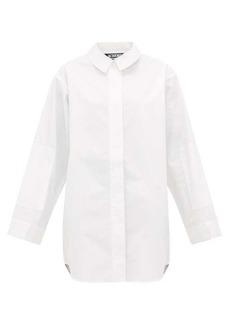 Jacquemus Loya curved-hem cotton shirt