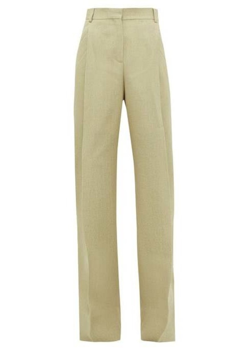 Jacquemus Loya pleated linen trousers