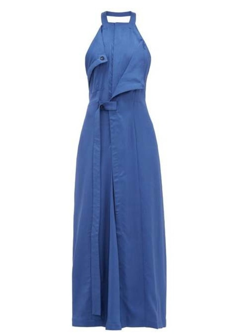 Jacquemus Marco draped open-back twill dress