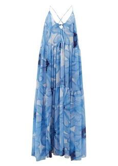 Jacquemus Mistral floral-print chiffon banded maxi dress