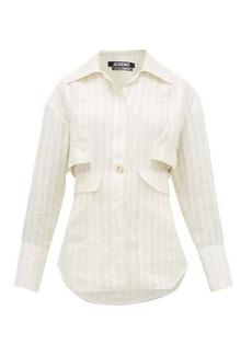 Jacquemus Monceau striped linen shirt