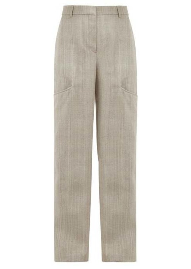 Jacquemus Moyo crepe wide-leg trousers