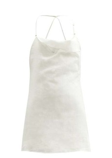 Jacquemus Nappe shorts-lined linen mini dress