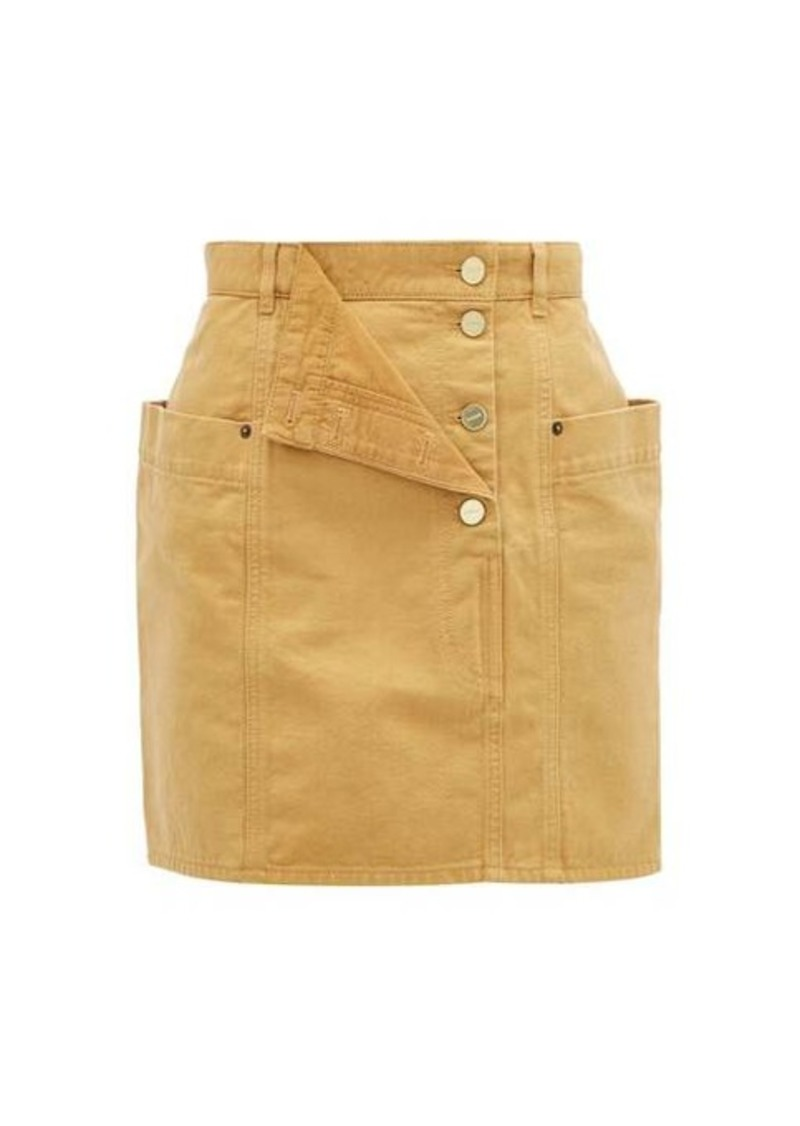 Jacquemus Nimes fold-front denim miniskirt