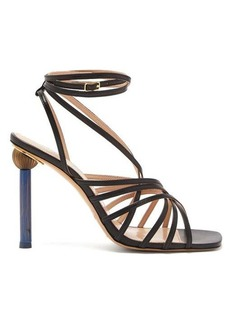 Jacquemus Pisa mismatched-heel leather sandals