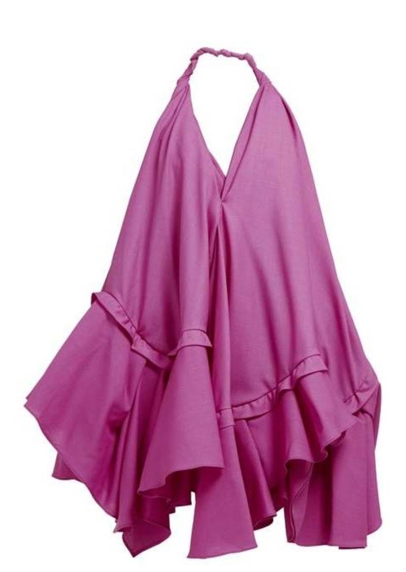 Jacquemus Rosa asymmetric ruffle poplin mini dress
