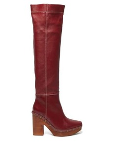 Jacquemus Sabots leather over-the-knee boots