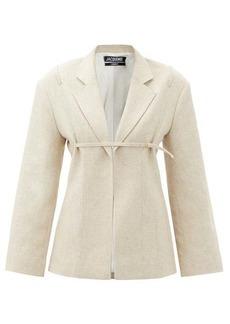Jacquemus Sage single-breasted belted linen-blend jacket