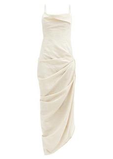 Jacquemus Saudade draped cotton-blend dress