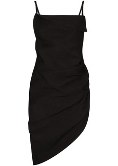 Jacquemus ruched side asymmetrical dress