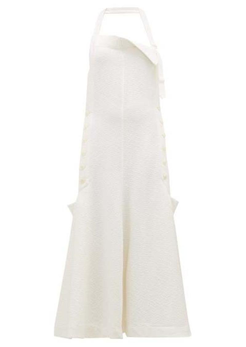 Jacquemus Tablier halterneck open-back apron dress