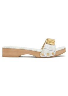 Jacquemus Tatanes wooden-sole leather slides