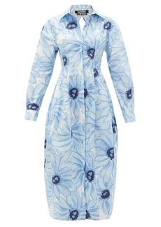 Jacquemus Valensole floral-print cotton-poplin shirt dress