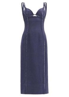 Jacquemus Valerie cutout-bodice canvas dress