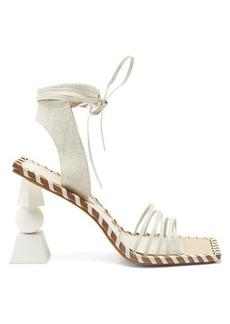 Jacquemus Valerie geometric-heel wraparound leather sandals