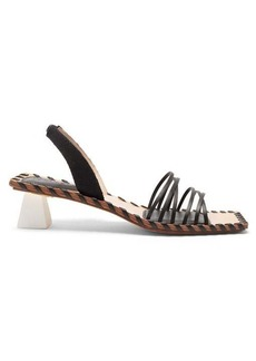Jacquemus Valerie slingback leather sandals