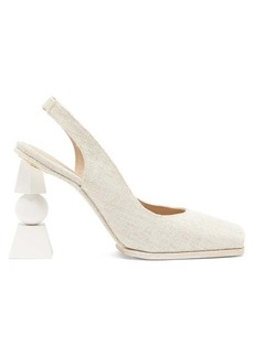 Jacquemus Valerie slingback linen sandals