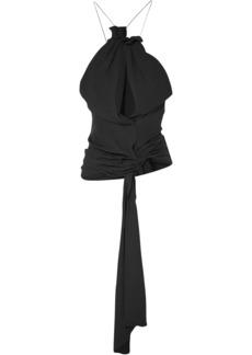 Jacquemus Woman Le Haut Bonifacio Cutout Voile Top Black