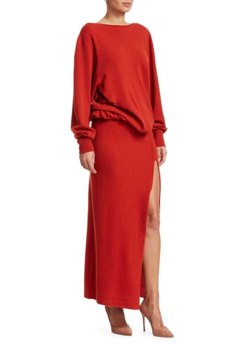 1e003263e6a Jacquemus Jemaa Side Slit Maxi Sweater Dress