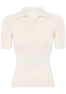 Jacquemus Knit Polo Shirt W/ Back Cutout