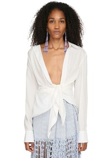 Jacquemus Knotted Cotton Poplin Shirt