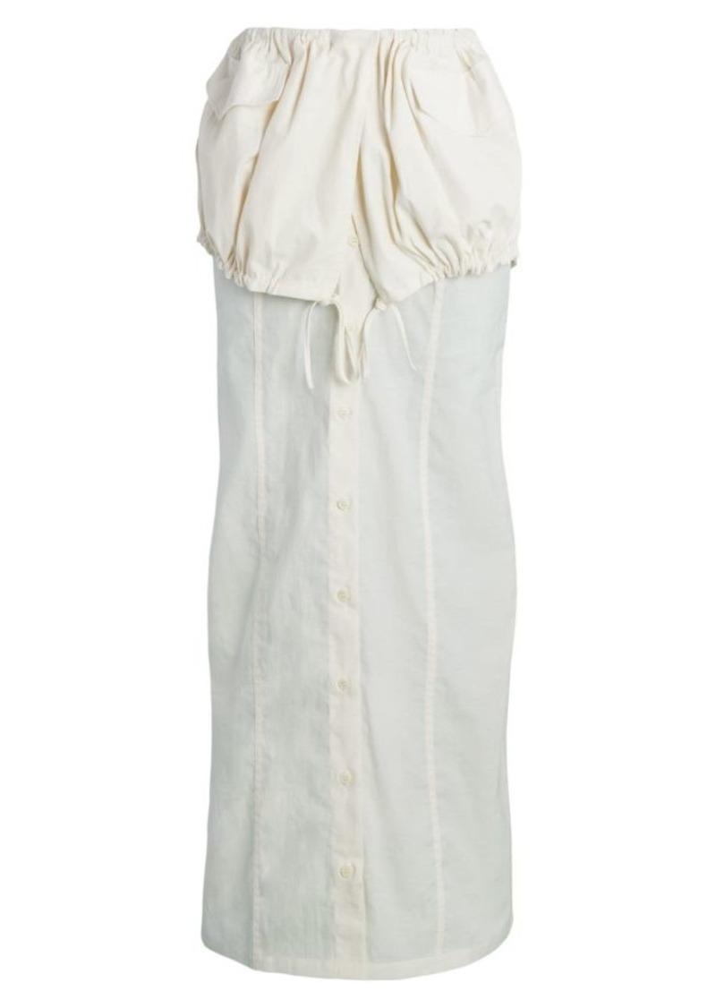 Jacquemus La Jupe Button-Front Maxi Skirt