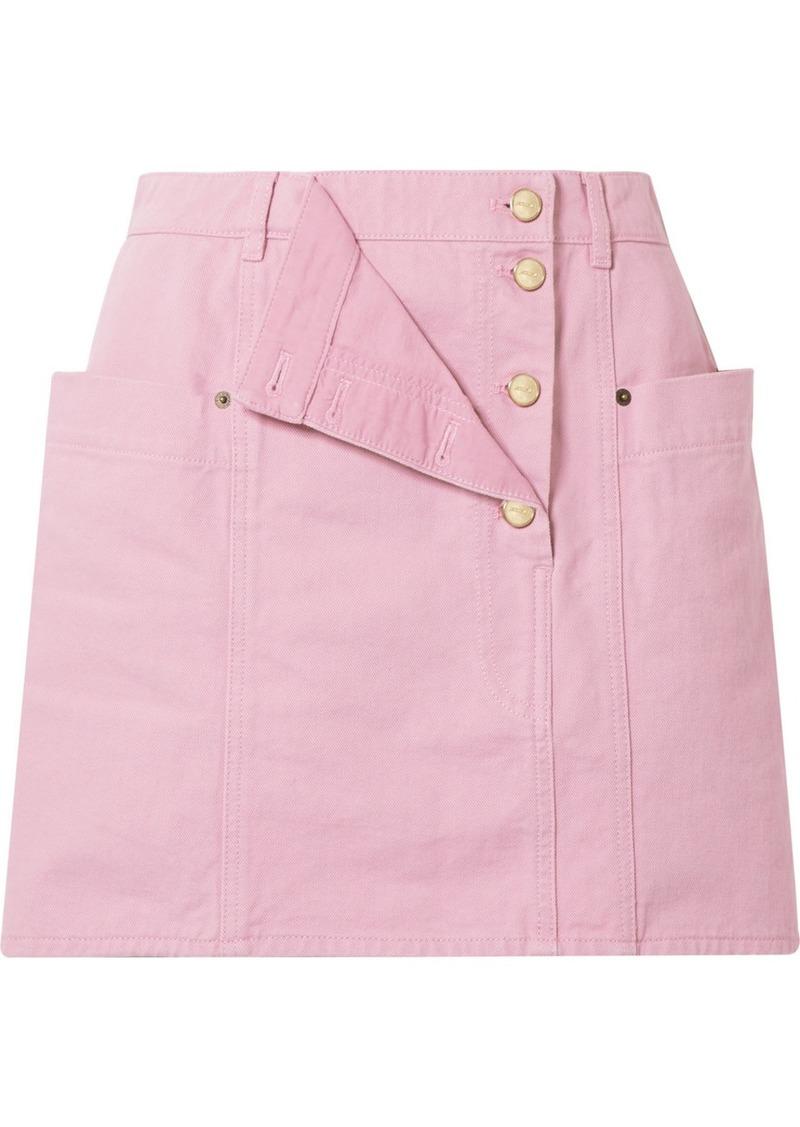 Jacquemus La Jupe De Nimes Layered Denim Mini Skirt
