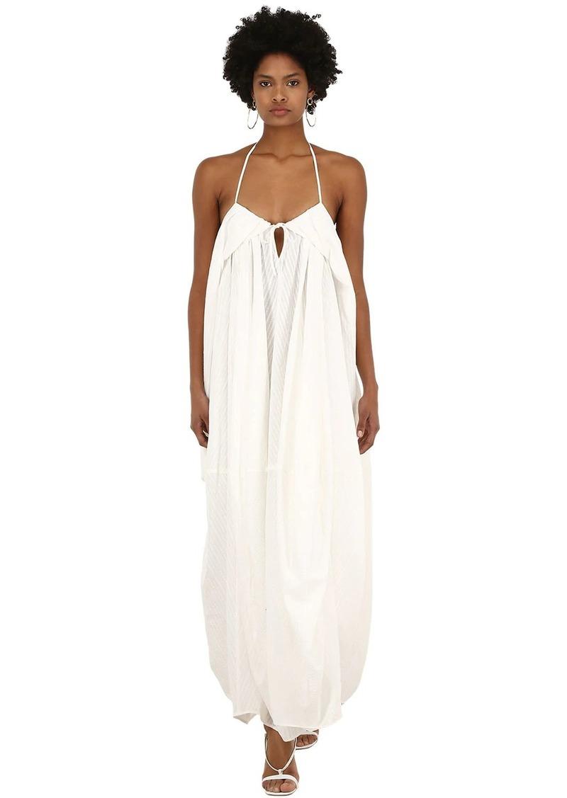 Jacquemus La Robe Calci Long Cotton Blend Dress