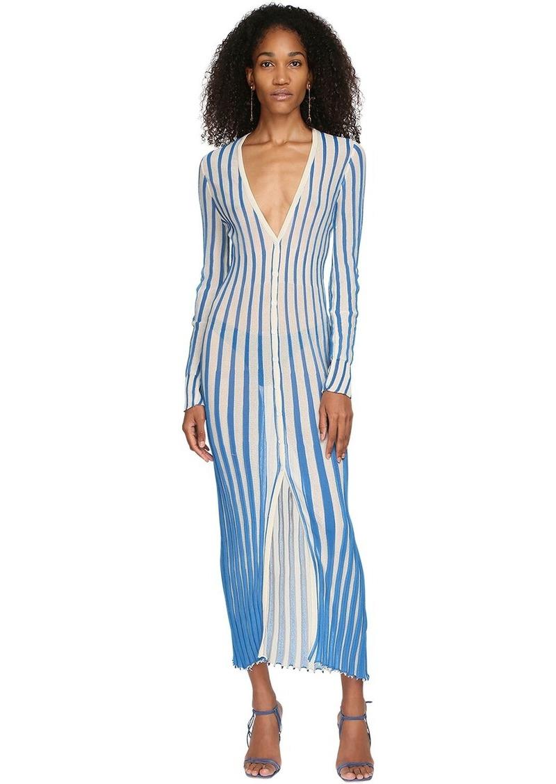 Jacquemus La Robe Jacques Rib Knit Cardigan Dress