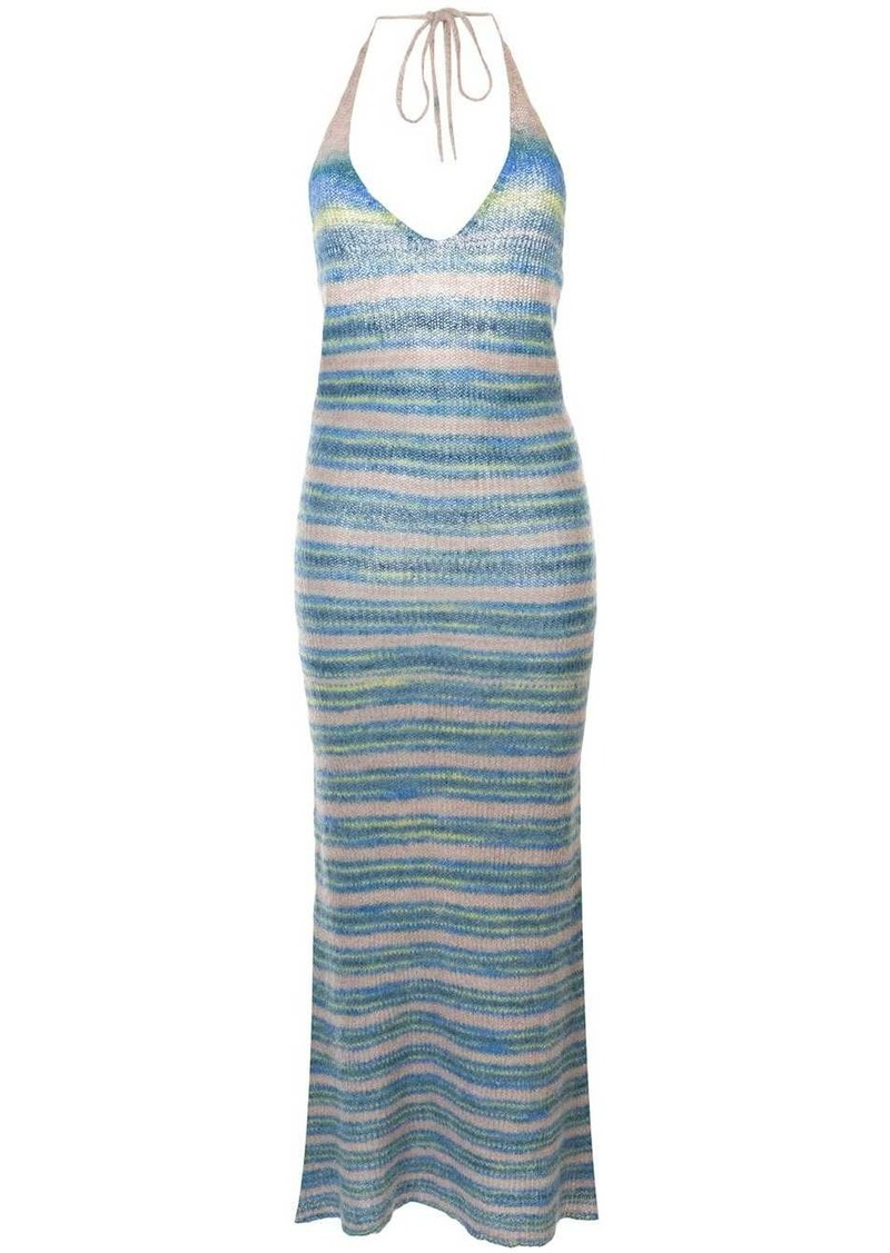 Jacquemus La Robe Tropea long knitted dress