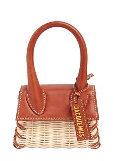Jacquemus Le Chiquito Raffia & Leather Bag