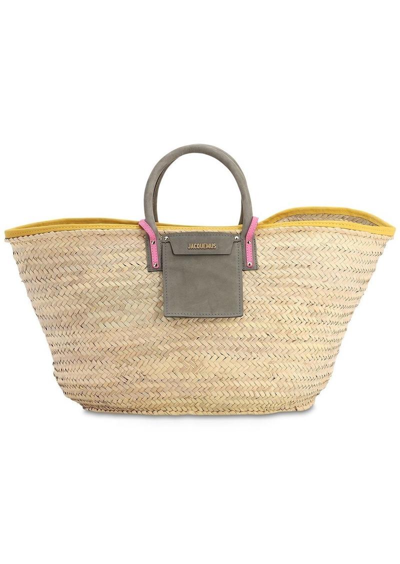 Jacquemus Le Grand Panier Soleil Straw Bag
